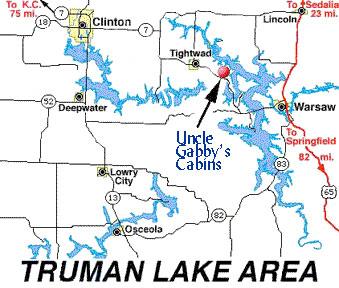 Truman Lake Map